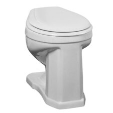 Victoria High 1.6 GPF Round Toilet Backspud Toilet Bowl Only