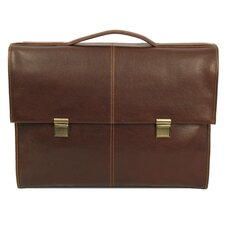Watson Suede Flap-Over Laptop Briefcase