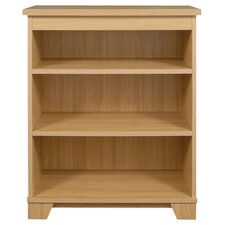Sherwood Wide Low Open Bookcase in Natural Oak