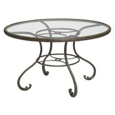"Old Gate Glass Top 48"" Round Dining Table"