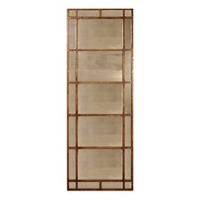 Avidan Rectangular Mirror in Antiqued Gold Leaf
