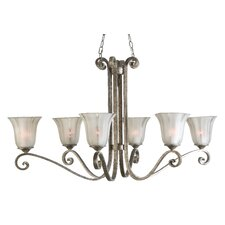 Lyon 6 Light Oval Chandelier