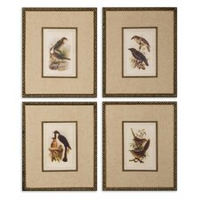 Pair of Birds I, II, III and IV Wall Art (Set of 4)