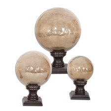 Lamya Three Piece Finials in Antique Bronze