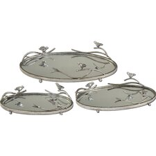Birds Limb Oval Serving Tray (Set of 3)