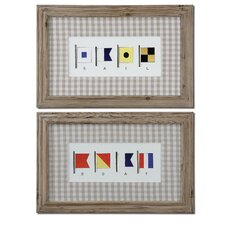 "Signal Flags by Grace Feyock Wall Art - 19"" x 30"" (Set of 2)"