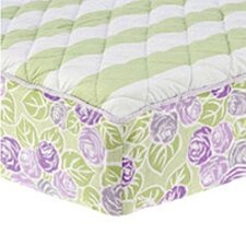 Flower Basket Quilted Changing Pad Cover Cover in Lilac, Green and White