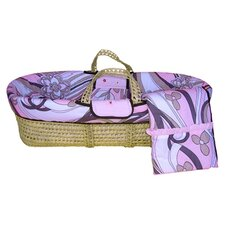 Retro Flowers Moses Basket