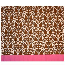 Damask Cotton Rod Pocket Tailored Curtain Valance