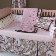 Retro Flowers 3 Piece Crib Bedding Set