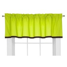 Valley of Flowers Cotton Rod Pocket Tailored Curtain Valance