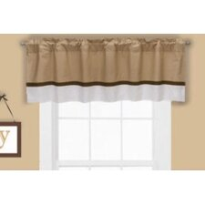 Metro Houndstooth Cotton Blend Rod Pocket Tailored Curtain Valance
