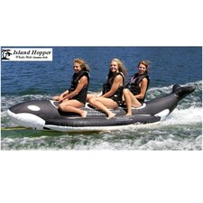 "3 - Passenger Inline Heavy Recreational ""Whale Ride"" Banana Boat Water Sled"
