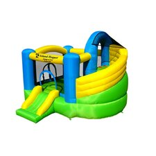 Jump-A-Lot Curved Double Slide Bounce House