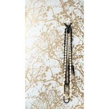 Wilderness Wallsmart Wallpaper in White / Gold