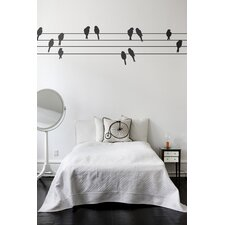 Powerbirds Wall Sticker in Black