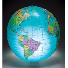 "12"" Inflatable Globe with Light"