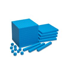 Base Ten Starter Set Plastic Blue