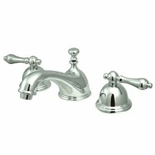 Widespread Bathroom Faucet with Double Lever Handles