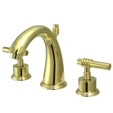 Milano Widespread Bathroom Faucet with Double Lever Handles