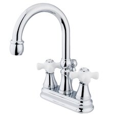 Centerset Bathroom Faucet with Double Cross Handles