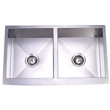"33"" x 20"" Farm House Double Bowl Kitchen Sink"