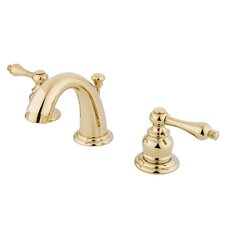 Mini Widespread Bathroom Faucet with Double Lever Handles