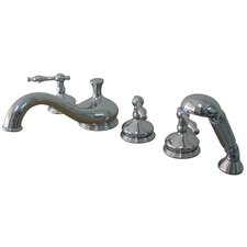 Heritage Double Handle Deck Mount Roman Tub Faucet Trim Naples Lever Handle