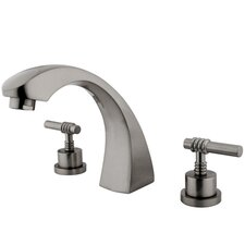 Double Handle Deck Mount Roman Tub Faucet Trim Milano Lever Handle