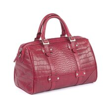 Martinque Crocodile Embossed Leather Handbag