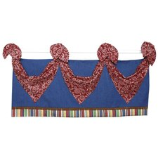 Western Tab Top Tailored Curtain Valance