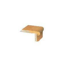 "1.06"" x 3.5"" Birch Stair Nose Trim in Meteorite"