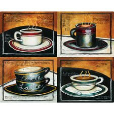 "12"" x 15"" Four Coffees Design Cutting Board"