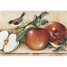 "7.5"" x 11"" Apples and Warblers Design Cutting Board"
