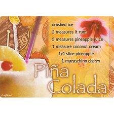 "5"" x 7"" Pina Colada Design Cutting Board"