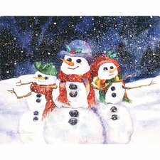 "7.5"" x 11"" Three Snowmen Design Cutting Board"