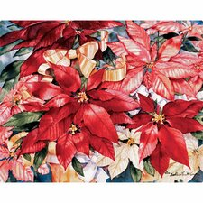 "7.5"" x 11"" Poinsettia Design Cutting Board"