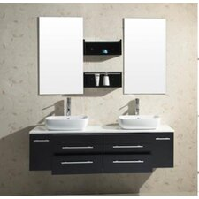 "Augustine 59.8"" Double Bathroom Vanity Set"