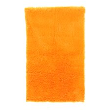 Faux Sheepskin Orange Rug