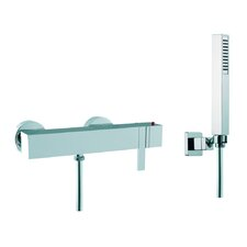 Brick Wall Mount Thermostatic Shower Faucet with Hand Shower