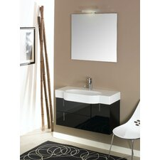 "Enjoy 34.9"" Wall Mounted Bathroom Vanity Set"
