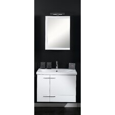 "Simple 30.4"" Wall Mounted Bathroom Vanity Set"
