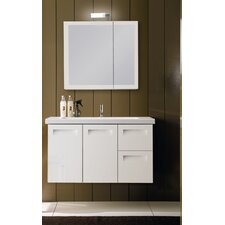 "Integral 38.3"" Wall Mounted Bathroom Vanity Set"
