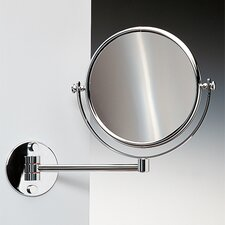 "11.8"" Extendable Double Face Wall Mounted 7X Magnifying Mirror with Optical Grade"