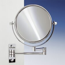 "18.9"" Extendable Double Face Wall Mounted 5X Magnifying Mirror with Two Arm and Two Brazo"