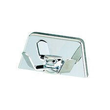 Standard Hotel Double Coat / Towel Hook in Chrome