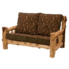 Traditional Cedar Log Loveseat