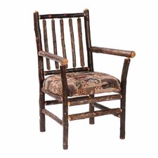 Hickory Spoke Back Fabric Arm Chair