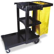 Commercial Multi-Shelf Cleaning Cart
