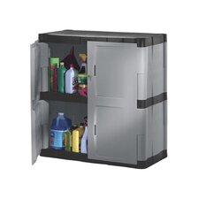Double-Door Storage Cabinet - Base in Gray / Black